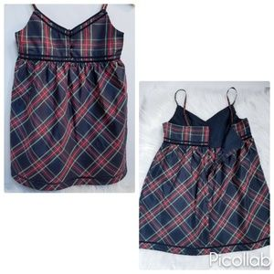 GAP Kids Navy/Red Tartan Dress